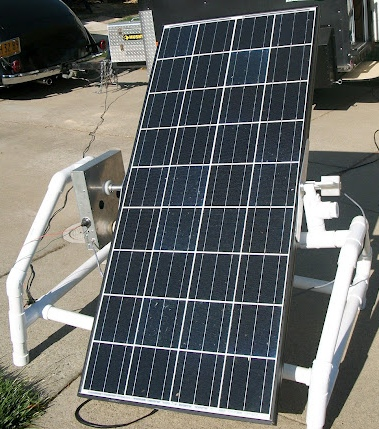 Large panel solar tracker mechanism