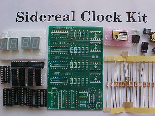Sidereal Clock Kit Before Assembly