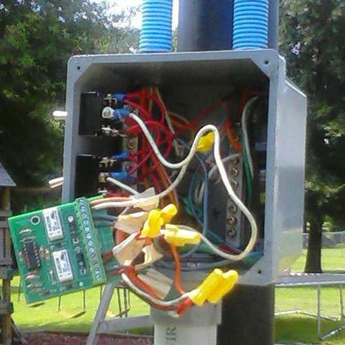 Solar Tracker Circuit inside Electrical Enclosure