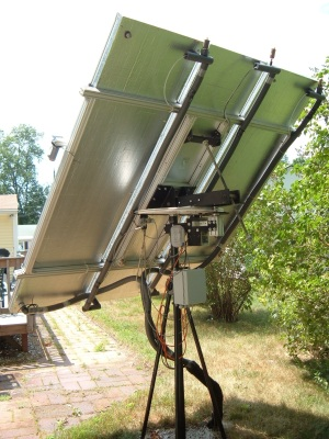 Rear View of Tracking Solar Water Heater